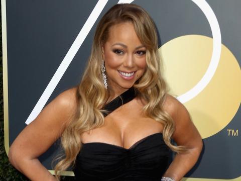 Mariah Carey en la 75 edición de los Globos de Oro
