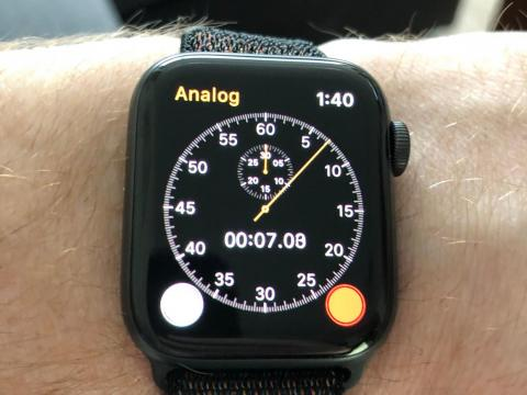 17. This may shock you, but the Apple Watch is pretty dang good at being a stopwatch.