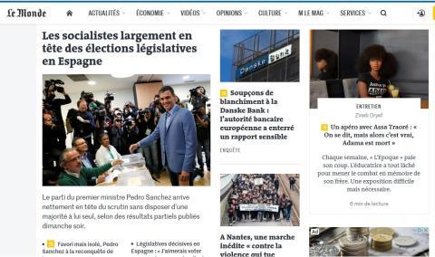 Le Monde informa de la victoria socialista