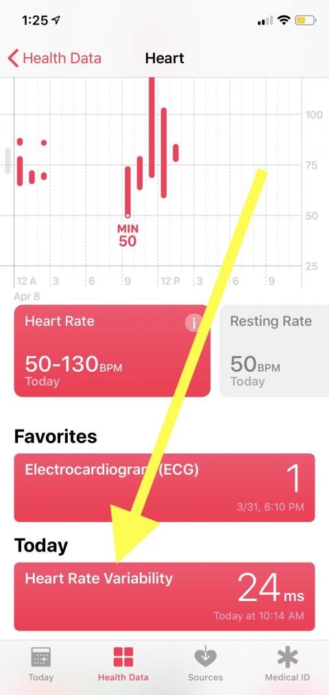 Nancy recommends the heart rate variability feature.