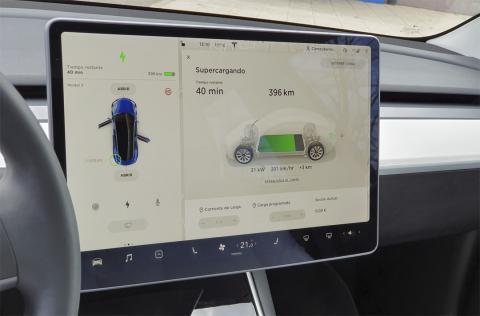 Navegador del Tesla Model 3