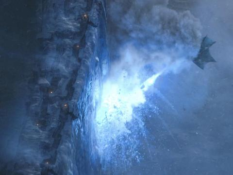 The shield that guards the realms of men can't do much against a blue laser flame.