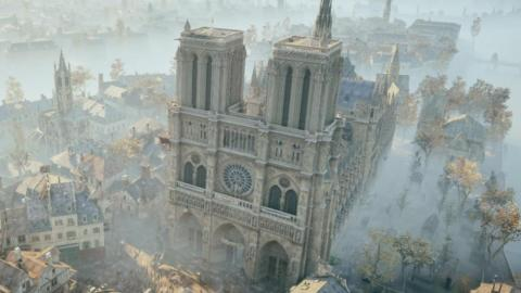 That's because the game, which takes place during the French Revolution, has a lavishly detailed, historically accurate depiction of Notre-Dame Cathedral.