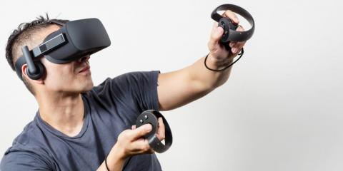The Oculus Touch controllers.