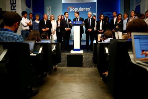 Pablo Casado comparece ante los medios