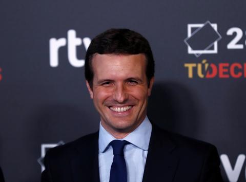 Pablo Casado llega a RTVE para el debate de las Elecciones Generales 2019