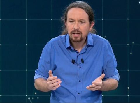 Pablo Iglesias, candidato de Unidas Podemos a la presidencia del Gobierno.