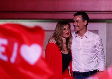 Pedro Sánchez tras ganar las elecciones generales de 2019.