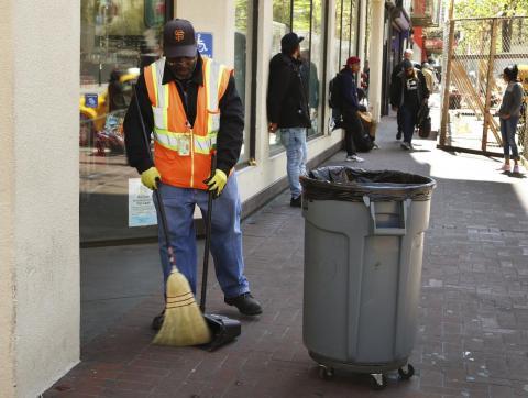 """A """"Poop Patrol"""" employee in San Francisco."""