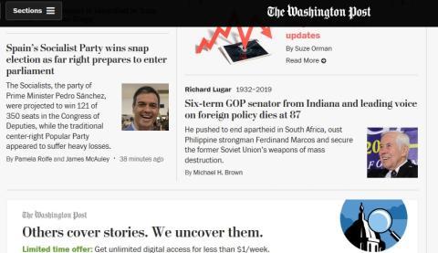 Portada de Washington Post