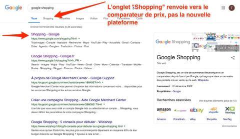 Captura de pantalla de la búsqueda de Google Shopping