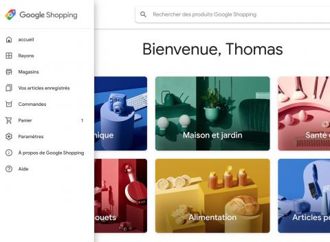 (re) menú principal google shopping