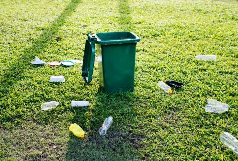 Recoger 5 piezas de basura de la naturaleza tiene un impacto positivo