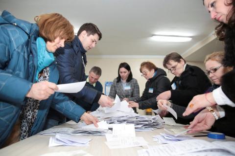 Recuento de votos tras unas elecciones