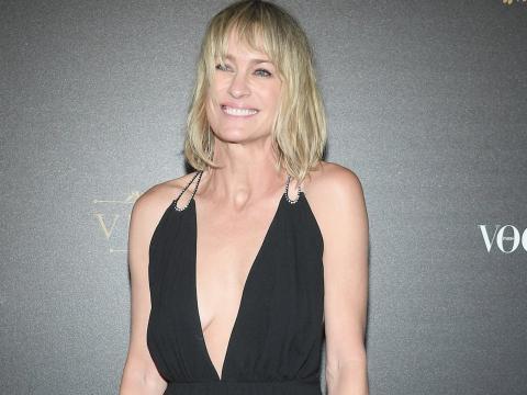 Robin Wright acude a la fiesta organizada por Vogue durante la semana de la moda de París en 2018