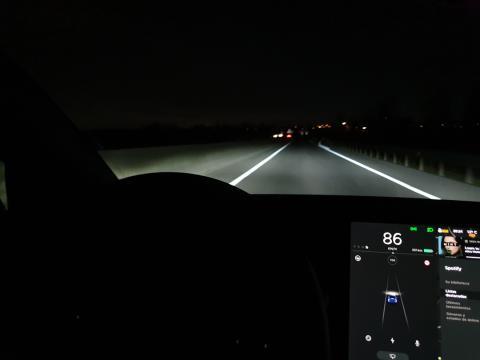 Salpicadero del Model 3