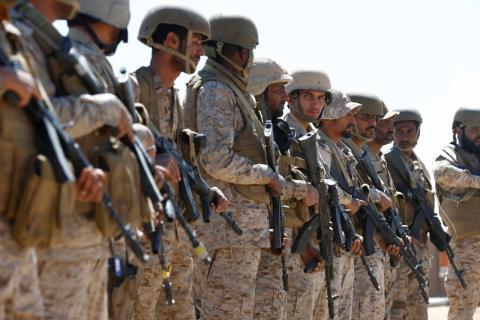Soldados saudíes desplegados en Yemen