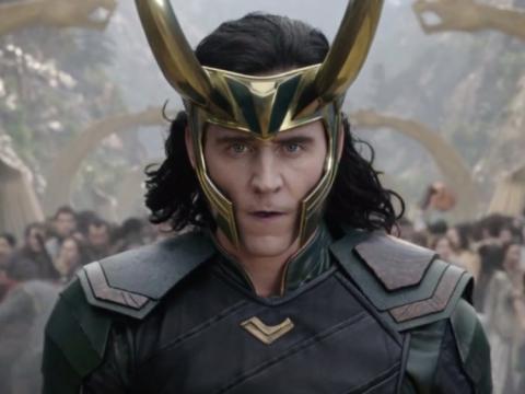 Tom Hiddleston como Loki en Thor: Ragnarok