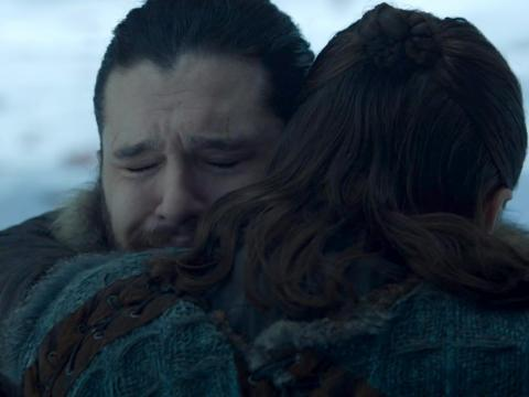 When Jon and Arya finally reunited, their hug mirrored the way they last parted ways.