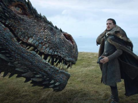 Jon got a fantastic scene with Drogon last season, so it'd be great to have the same for Daenerys and Ghost.