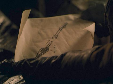 In Winterfell, Arya requested a special kind of dragonglass dagger/spear from Gendry.