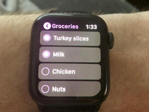 11. You can use the Apple Watch to view your grocery items and cross them off.