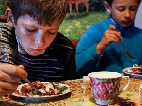 But in 2015, a financially weakened Ukranian government canceled lunches at local schools, cutting off the only source of uncontaminated food for 350,000 children in the area, according to the AP.