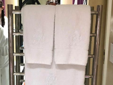 6. To keep the air in your room from getting too dry, wet a towel and hang it by the heater.