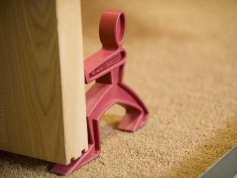7. Carry a doorstop — and use it in any situation that makes you feel unsafe.