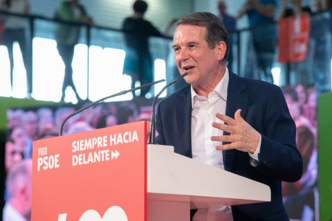 Abel Caballero, candidato del PSOE a la alcaldía de Vigo