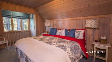 Additional bedrooms for guests are bountiful.