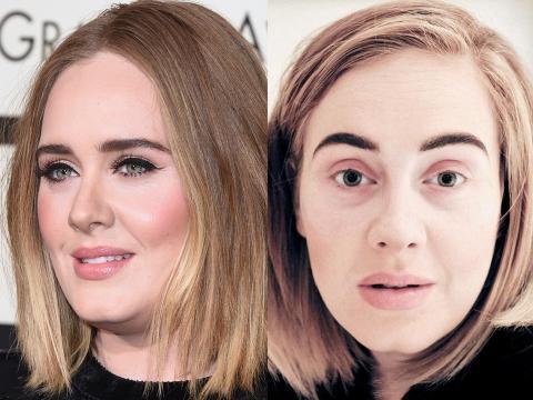 Adele normalmente mantiene un maquillaje sencillo.