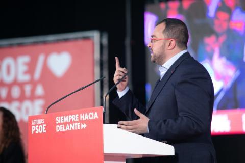 Adrián Barbón, candidato del PSOE a la presidencia de Asturias