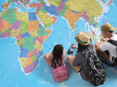 África es el único continente que se encuentra en los cuatro hemisferios