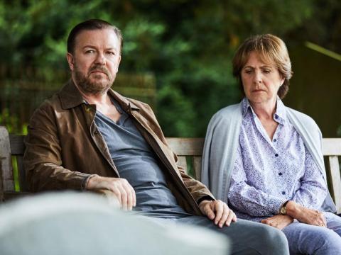 Ricky Gervais crea y protagoniza esta comedia de humor negro.