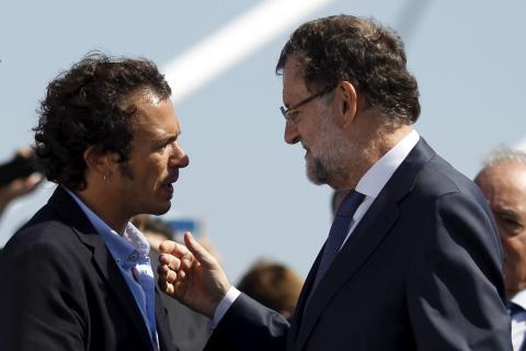 El alcalde de Cádiz, José María González 'Kichi', y el expresidente del Gobierno Mariano Rajoy.
