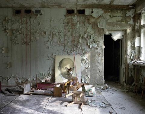 Retrato de Lenin, Pripyat, 1997.
