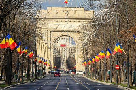 El Arco del Triunfo de Bucarest (Rumanía)