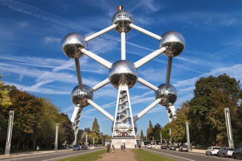 El Atomium, en Bruselas (Bélgica)