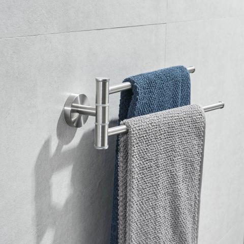 Barra giratoria para toallas