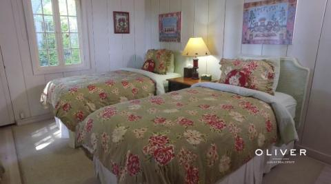 The bedrooms have rustic charm to them.