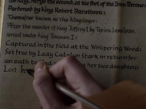 Brienne tells Jaime's story.