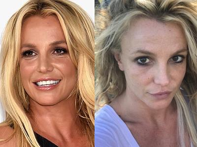 Britney parece igual con maquillaje que sin él