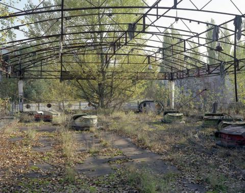 Coches de coche, Pripyat, 2008.