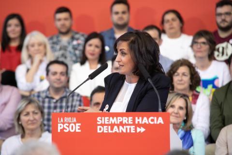 Concha Andreu, candidata del PSOE a la presidencia de La Rioja