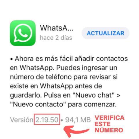 A continuación te contamos cómo comprobar tu versión de WhatsApp si tienes un iPhone.