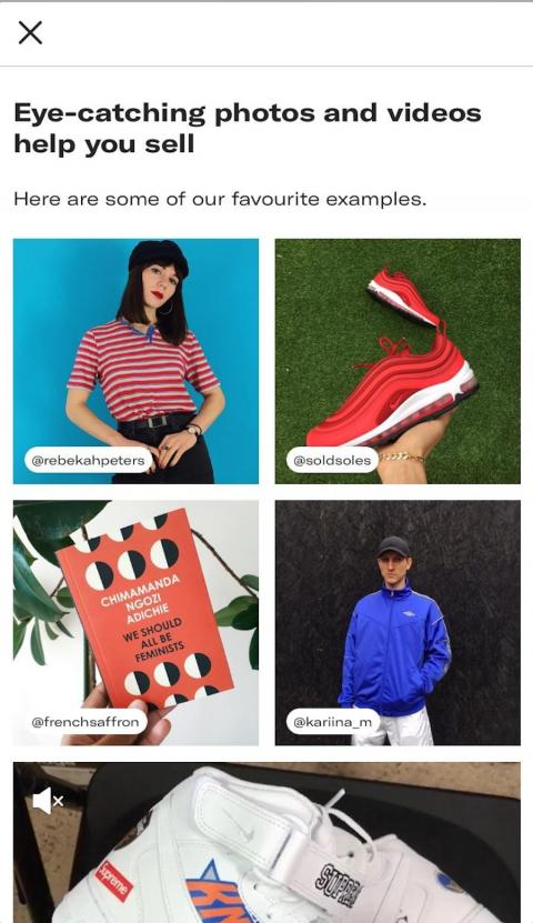 Depop advises sellers to post at least four photos and a video to give the item its best chance of selling.