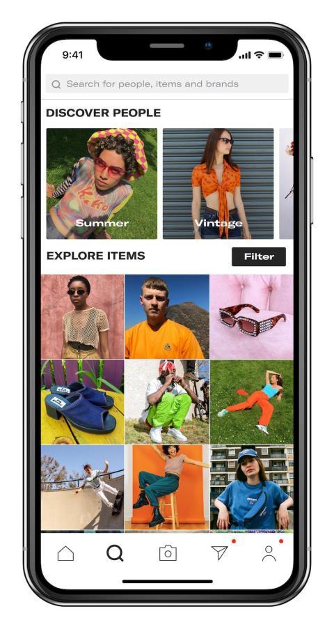 Depop is an Instagram-like version of eBay.