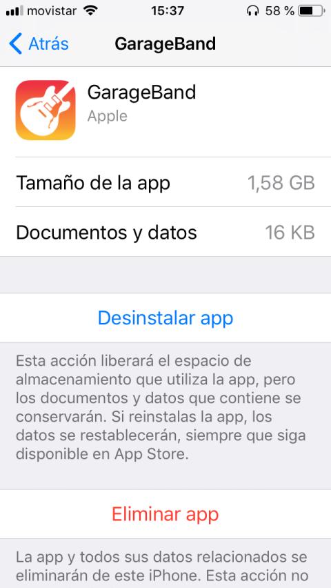 Desinstalar o Eliminar una app