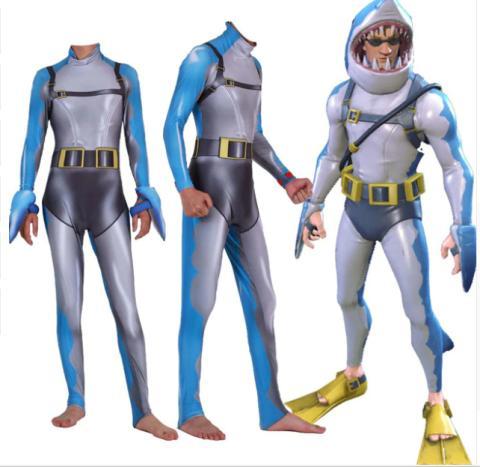 Disfraz de hombre tiburón Fortnite